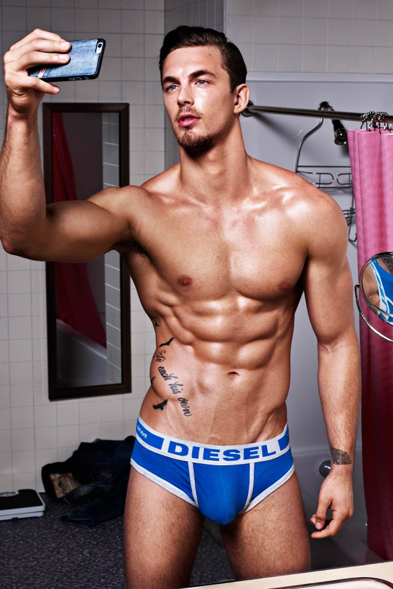 DIESEL HERO FIT CAMPAIGN WITH CHRISTIAN HOGUE, TYLER MAHER, MAXIMILLIAN SILBERMAN & MORE - MALE MODELS OF THE WORLD